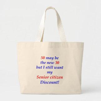 50 Senior Citizen Tote Bag