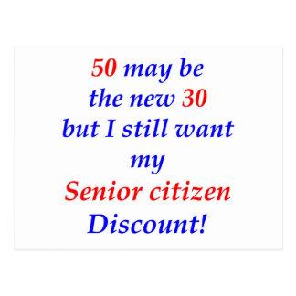 50 Senior Citizen Postcard