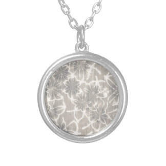 50 Shades of Beige Round Pendant Necklace