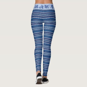 Aztec Themed (50 shades of blue aztec HAWT edition) Leggings