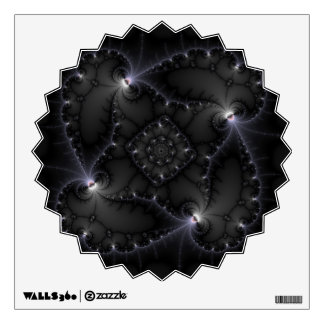 50 Shades Of Grey - Fractal Art Wall Decal