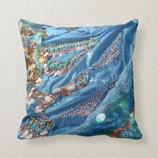 50 Shades of Turquoise cushion