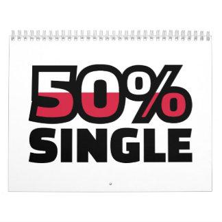 50% Single Calendar