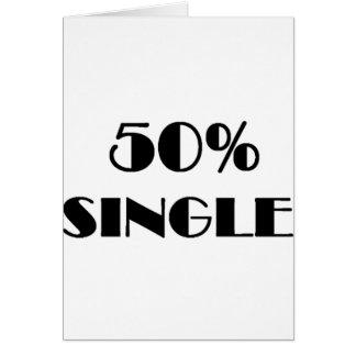 50% Single Card
