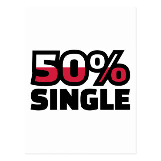 50% Single Postcard