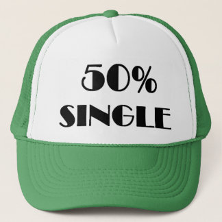 50% Single Trucker Hat