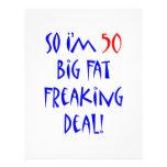 50 So I'm 50 ... Custom Letterhead