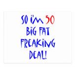 50 So I'm 50 ... Postcard