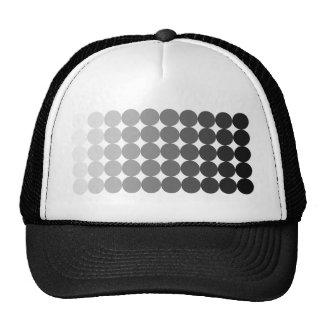 50 sombras de círculos grises gorra