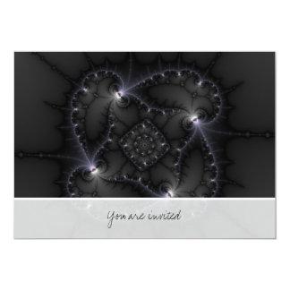 """50 sombras de gris - arte del fractal invitación 5"""" x 7"""""""