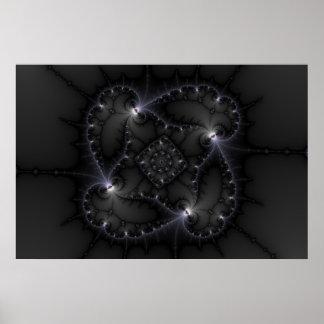50 sombras de gris - arte del fractal póster