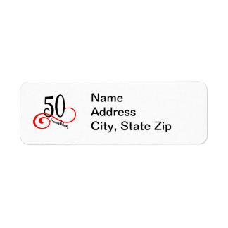 50 Something Return Address Label