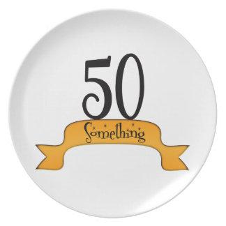 50 Something Melamine Plate