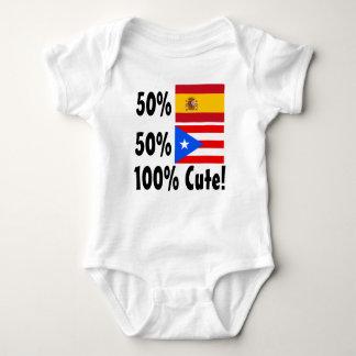 50% Spanish50% Puerto Rican 100% Cute Baby Bodysuit