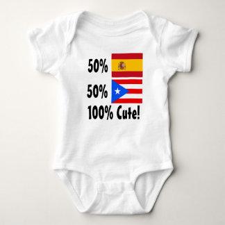50% Spanish 50% Puerto Rican 100% Cute Baby Bodysuit