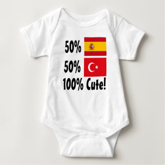 50% Spanish 50% Turkish 100% Cute Baby Bodysuit