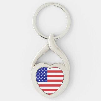50-Star United States Flag Keychain