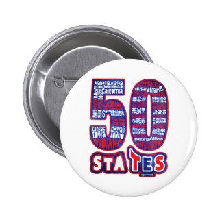 50 STATES THE USA BUTTON