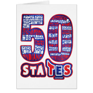 50 STATES THE USA GREETING CARD