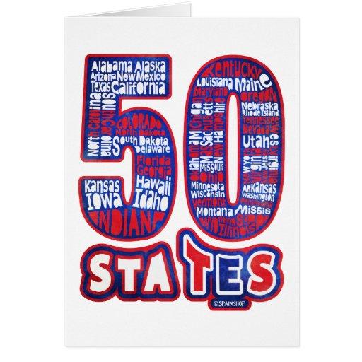50 STATES THE USA CARD