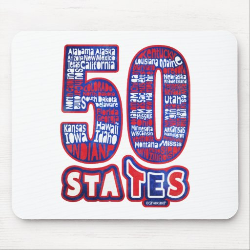 50 STATES THE USA MOUSE PAD