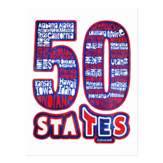 50 STATES THE USA POST CARDS