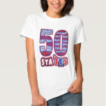 50 STATES THE USA T SHIRT