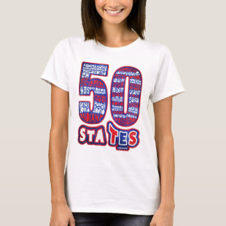 50 STATES THE USA T-Shirt