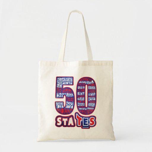 50 STATES THE USA TOTE BAG