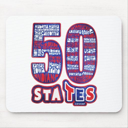 50 STATES USA ALFOMBRILLAS DE RATONES