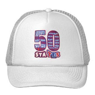 50 STATES USA GORRO DE CAMIONERO