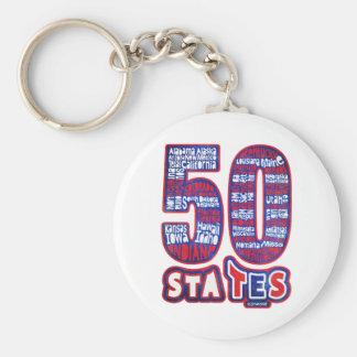 50 STATES USA LLAVERO PERSONALIZADO