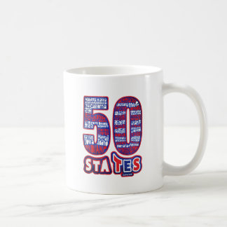50 STATES USA TAZAS DE CAFÉ