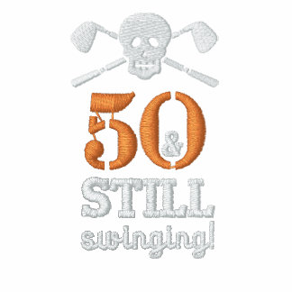 50 & Still Swinging - Golf Birthday Shirt Polo