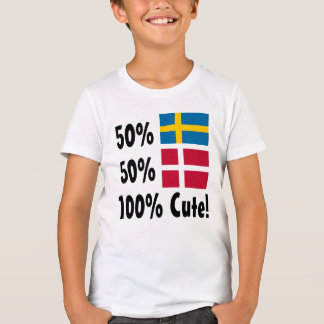 50% Swedish 50% Danish 100% Cute T-Shirt
