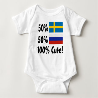 50% Swedish 50% Russian 100% Cute Baby Bodysuit