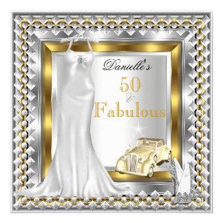 """50 talones fabulosos elegantes del vestido del invitación 5.25"""" x 5.25"""""""