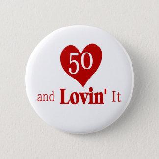 50 th Birthday Button