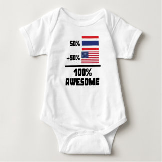 50% Thai 50% American 100% Awesome Baby Bodysuit
