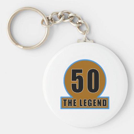 50 The Legend Birthday Designs Key Chain