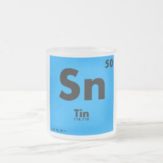 50 Tin | Periodic Table of Elements Frosted Glass Coffee Mug