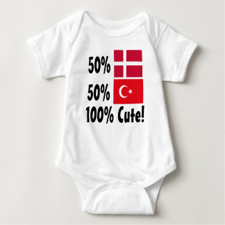 50% Turkish 50% Danish 100% Cute Baby Bodysuit