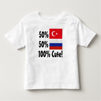 50% Turkish 50% Russian 100% Cute Toddler T-shirt
