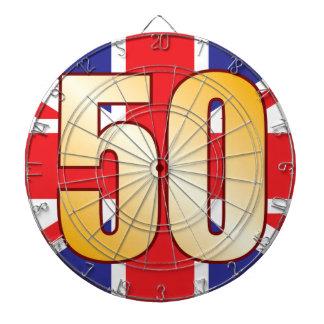 50 UK Gold Dartboard With Darts