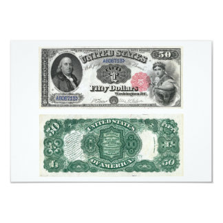 $50 United States Note Legal Tender Series 1880 Card