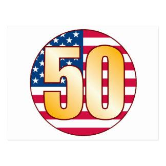 50 USA Gold Postcard