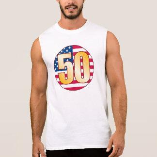 50 USA Gold Sleeveless Shirt