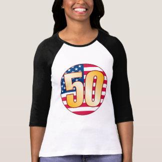 50 USA Gold T-Shirt