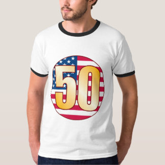 50 USA Gold T-Shirt