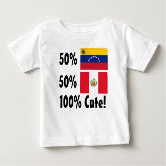 50% Venezuelan 50% Peruvian 100% Cute Baby T-Shirt